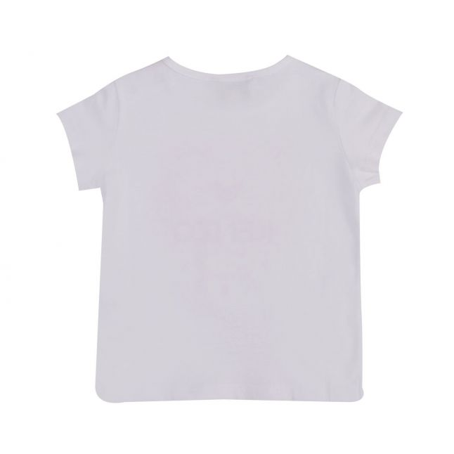 Baby White/Pink Tiger S/s T Shirt
