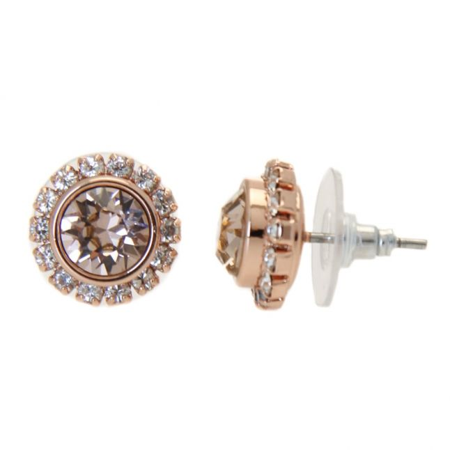 Womens Rose Gold & Vintage Sully Crystal Studs