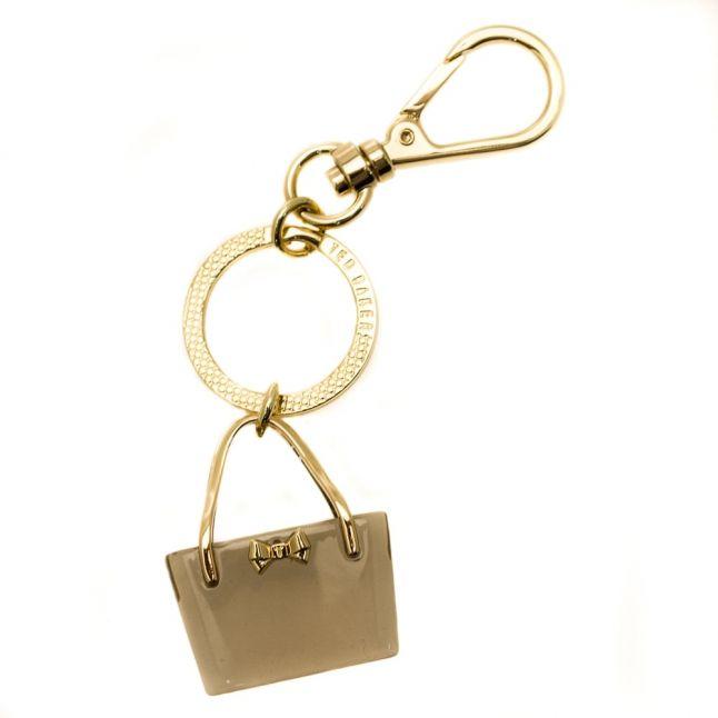 Womens Black Onla Mini Resin Bag Keyring
