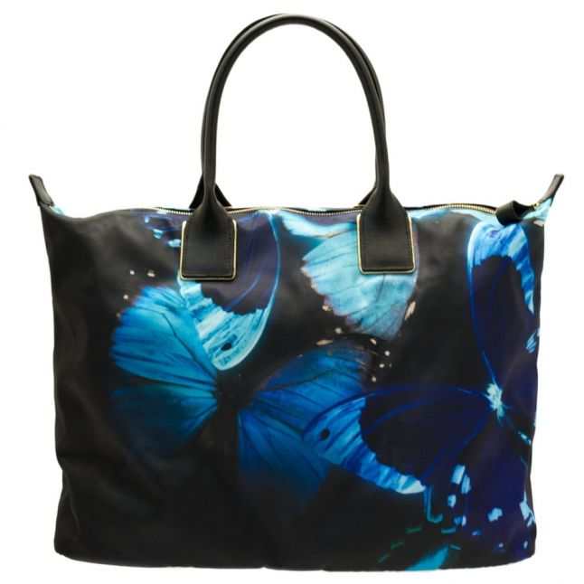 Womens Black Butterfly Collective Tamina Nylon Large Tote Bag