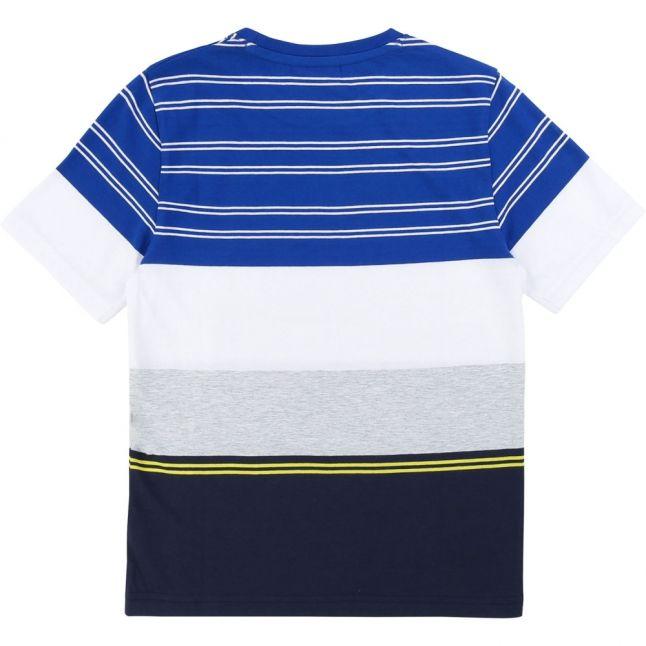 Boys Blue Multi Stripe Block S/s T Shirt