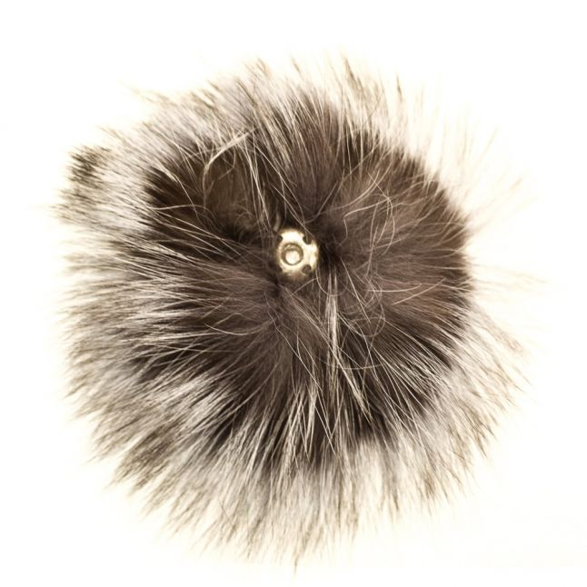 Bklyn Womens Silver Fur Pom