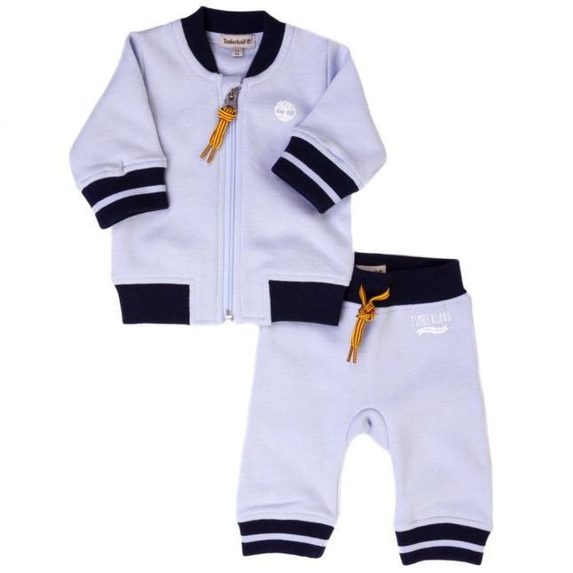 Baby Pale Blue Branded Tracksuit