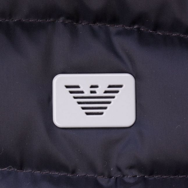 Baby Navy Hooded Down Filled Jacket