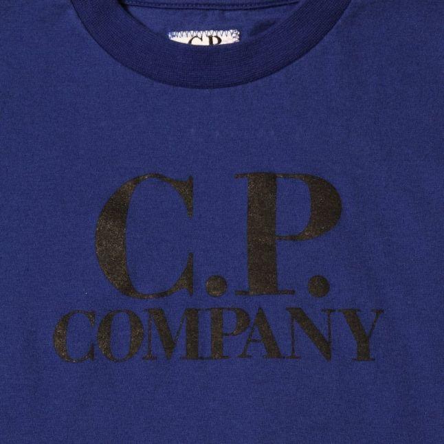 Boys Blue Goggle Back Print S/s Tee Shirt