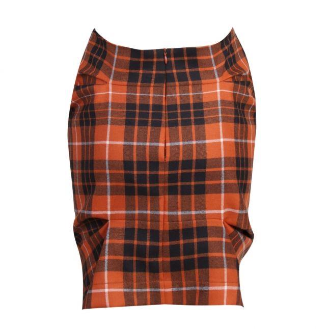 Anglomania Womens Red Tartan Tuck Mini Skirt
