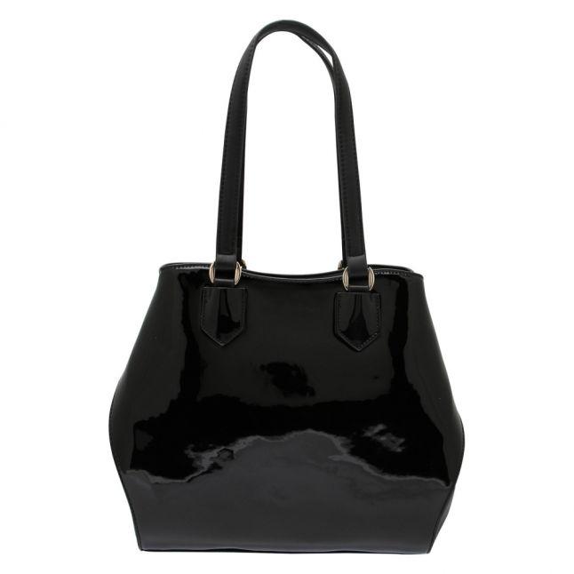 Womens Black Winter Pascal Patent Tote Bag
