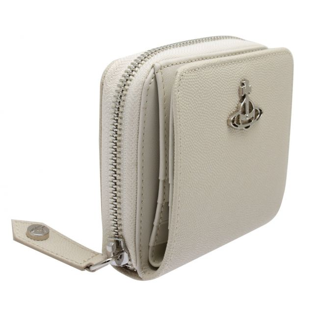 Womens Beige Windsor Leather Small Zip Around Purse