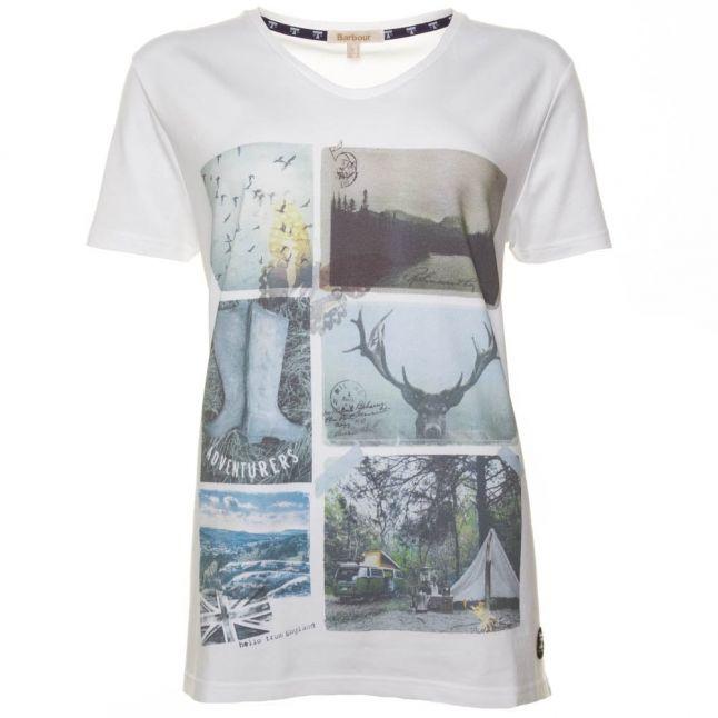 Lifestyle Womens White Brae Post Card S/s Tee Shirt