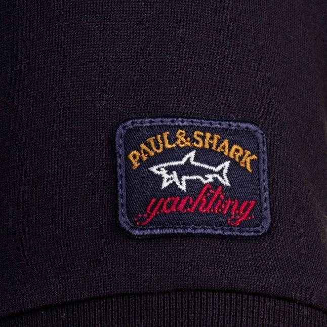 Paul & Shark Mens Black Tonal Logo Shark Fit S/s Tee Shirt