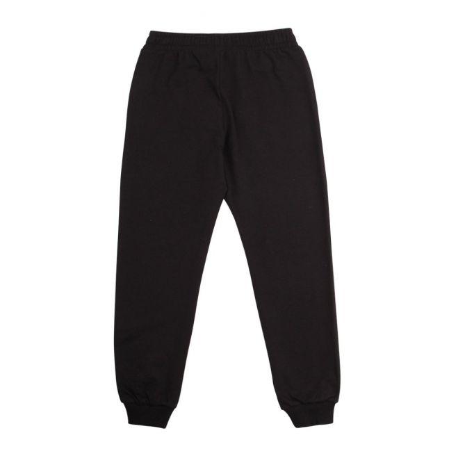 Boys Black Basic Logo Sweat Pants