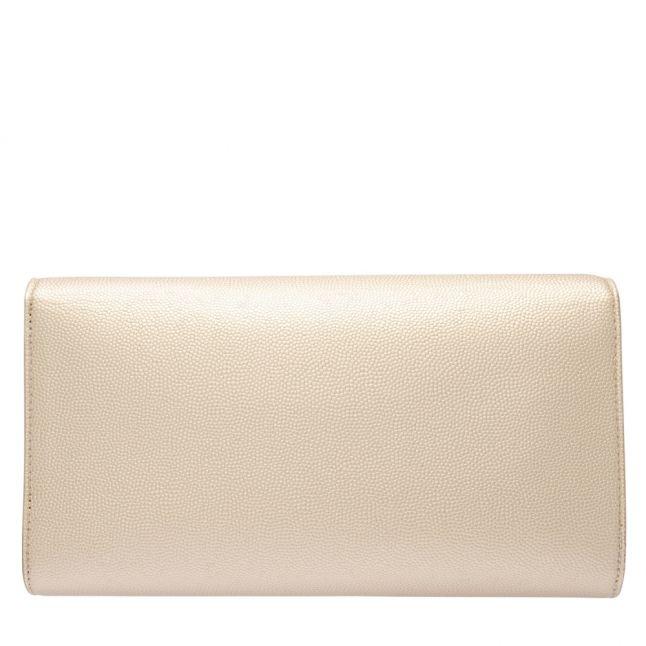 Womens Gold Divina Tassel Clutch Bag