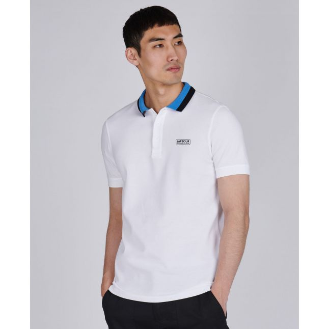 Mens White Ampere S/s Polo Shirt
