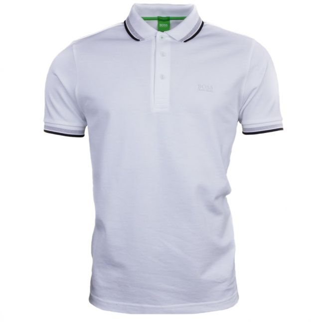 Athleisure Mens White Paddy S/s Polo Shirt