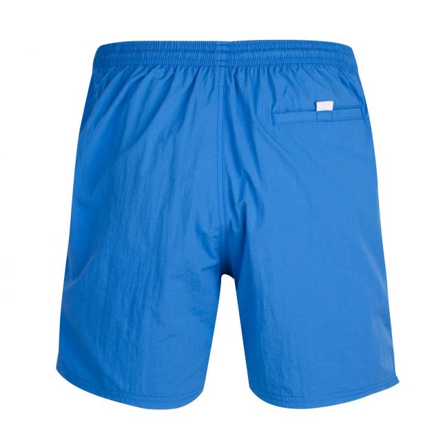 Mens Bright Blue Octopus Side Logo Swim Shorts