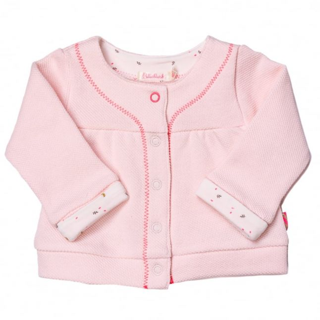 Baby Pale Pink Embroidered Sweat Jacket