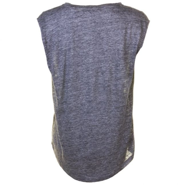 Womens Dark Grey Marl Laurel Linen Tee Shirt