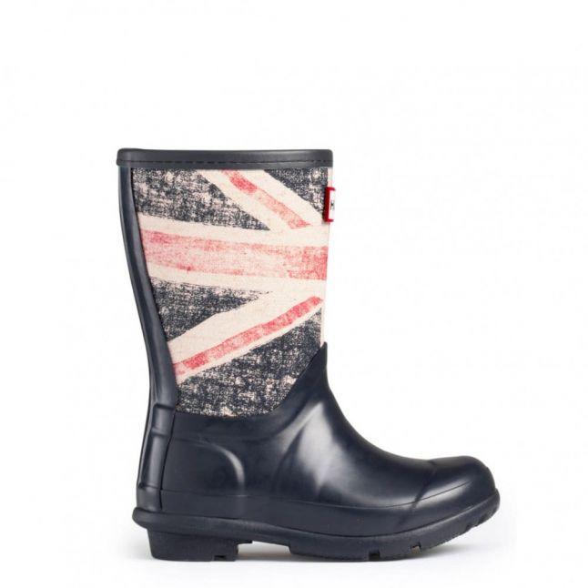 Kids Dark Navy Original Brit Wellington Boots (7-5)