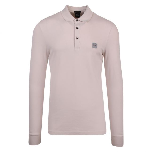 Casual Mens Stone Passerby Slim Fit L/s Polo Shirt
