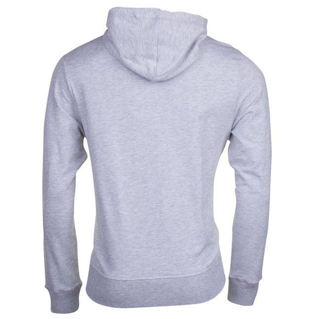 Mens Light Grey Melange Hooded Sweat Top