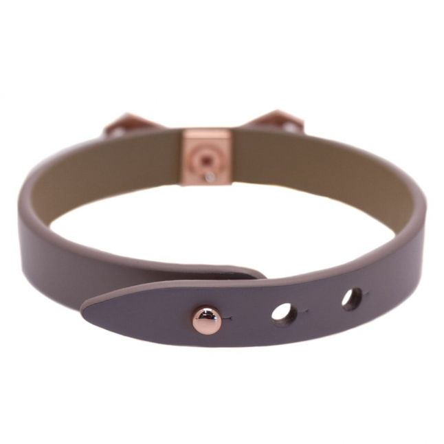 Womens Mid Purple Addaley Geometric Bow Bracelet