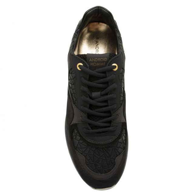Android Homme Mens Black Rubber Mosaic Santa Monica Trainers
