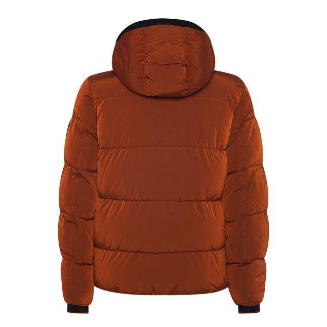 Mens Gingerbread Crinkle Nylon Padded Hooded Jacket
