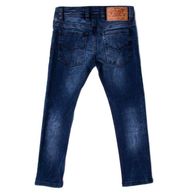 Boys Denim Wash Slim Fit Jeans