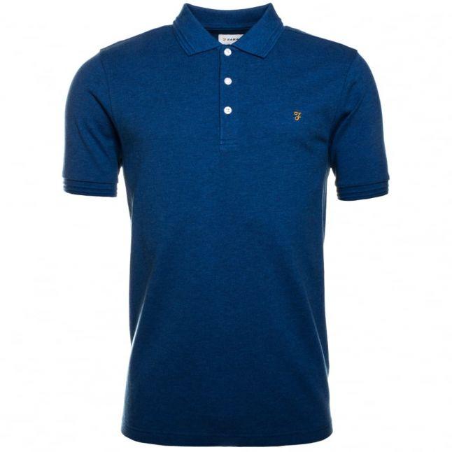 Mens Vivid Blue Woodford Marl S/s Polo Shirt