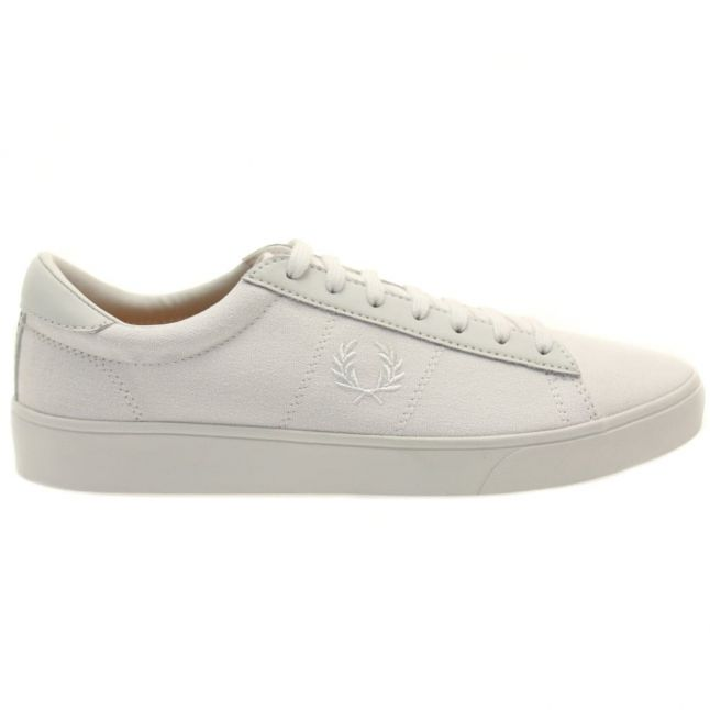 Mens White Spencer Canvas Trainers