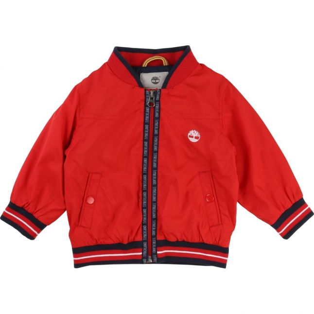 Boys New Red Branded Zip Through Jacket