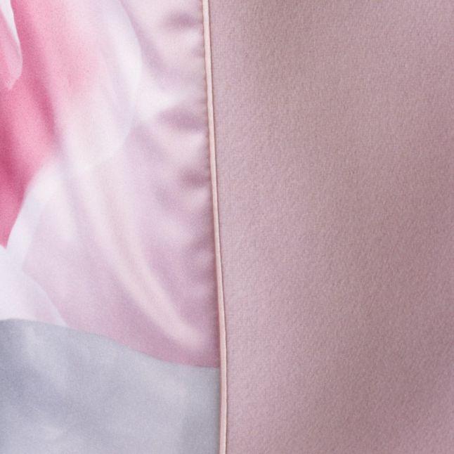 Womens Nude Pink Elethea Short Wrap Collar Coat
