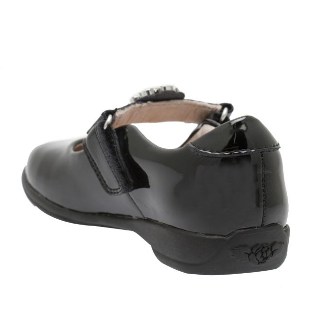 Girls Black Patent Buttercup F Fit Shoes (25-35)