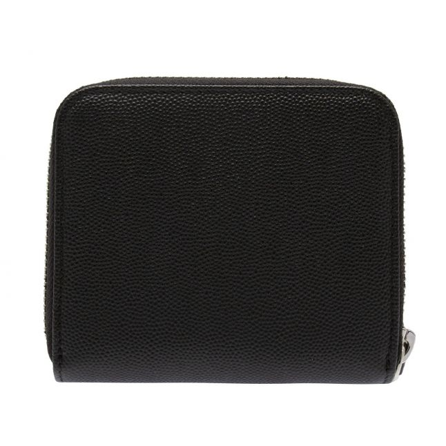Womens Black Windsor Leather Small Zip Around Purse