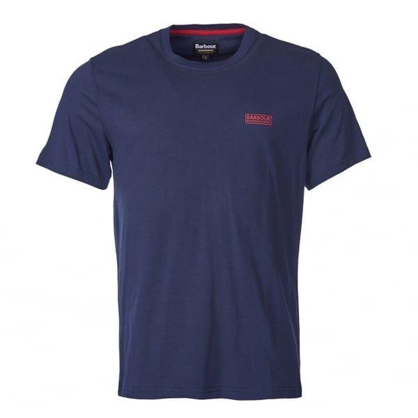 Mens Navy International Small Logo S/s T Shirt