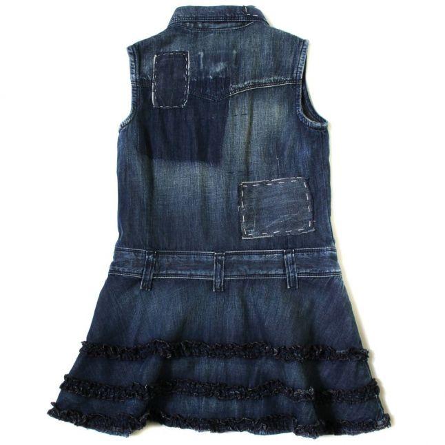 Girls Blue Dizaty Denim Dress