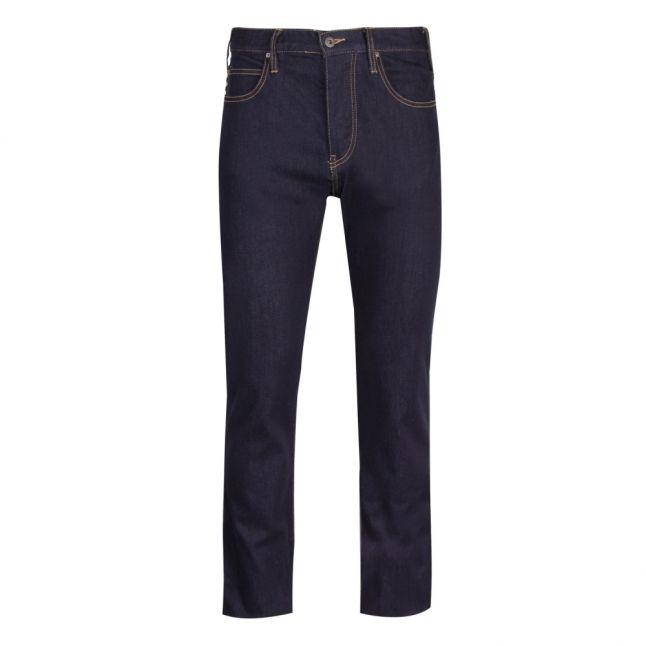 Mens Blue Rinse J21 Regular Fit Jeans
