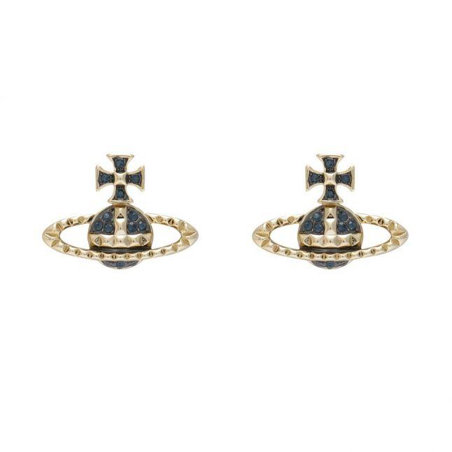 Womens Gold/Ruthenium Mayfair Bas Relief Earrings