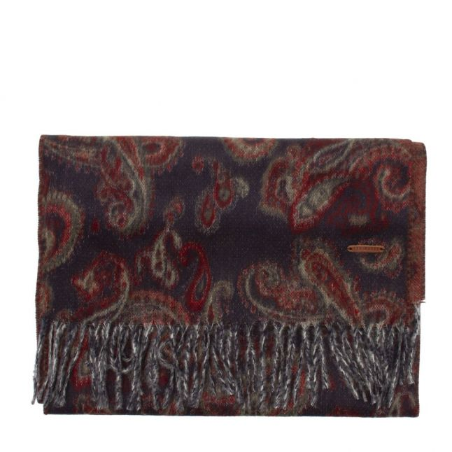 Mens Navy Claww Paisley Scarf