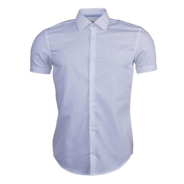 Mens Open White C-Joeyno Slim Fit S/s Shirt