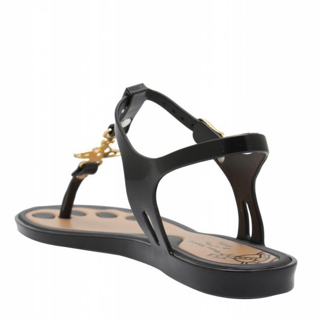 Vivienne Westwood Black/Gold Solar Orb 21 Sandals
