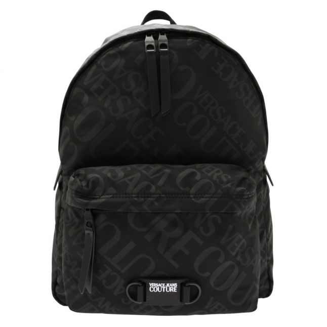 Mens Black Tonal Logomania Backpack