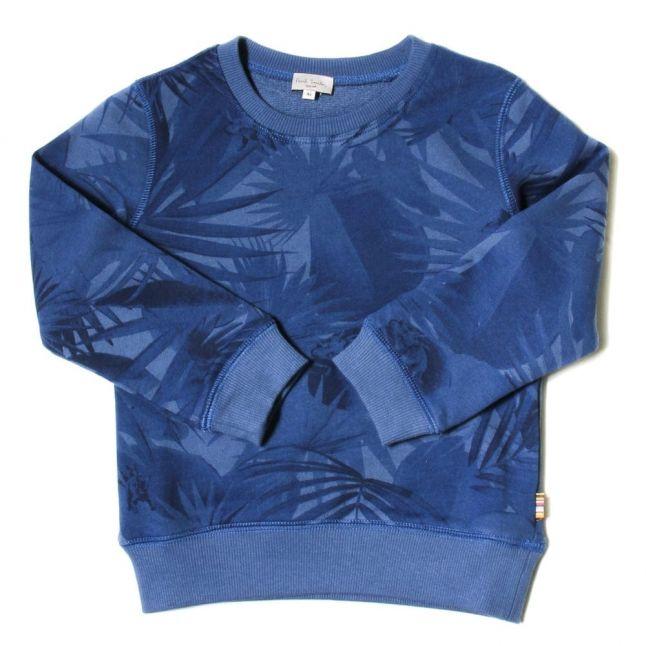 Boys Petrol Blue Loman Sweat Top