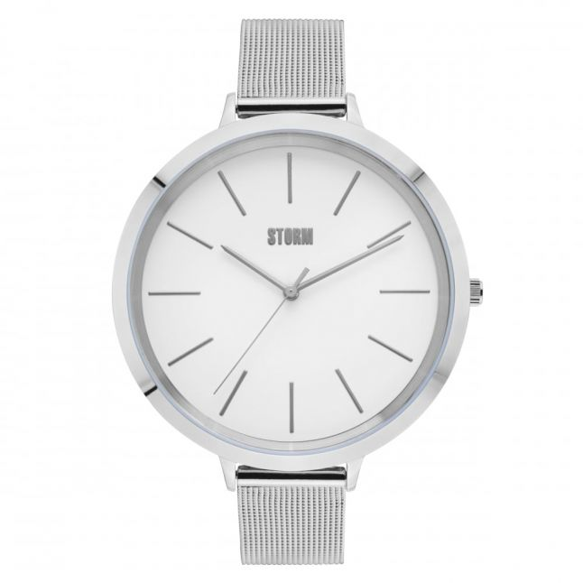 Womens White Dial Silver Edolie Watch