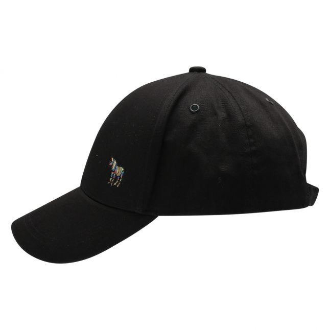 Mens Black Zebra Baseball Cap