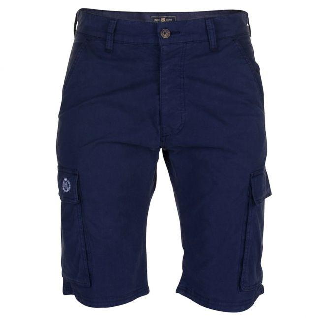 Mens Navy Machen Cargo Shorts