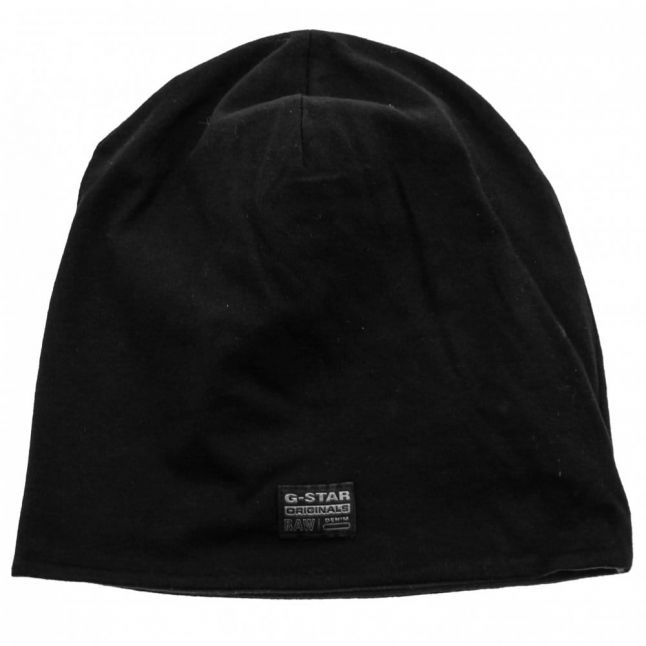 Mens Black Coban Reversible Beanie