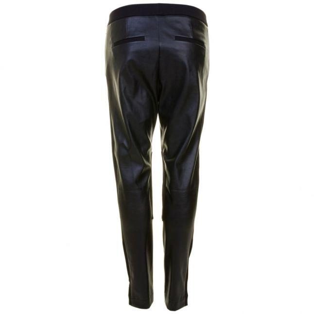 Womens Black Street PU Skinny Fit Trousers