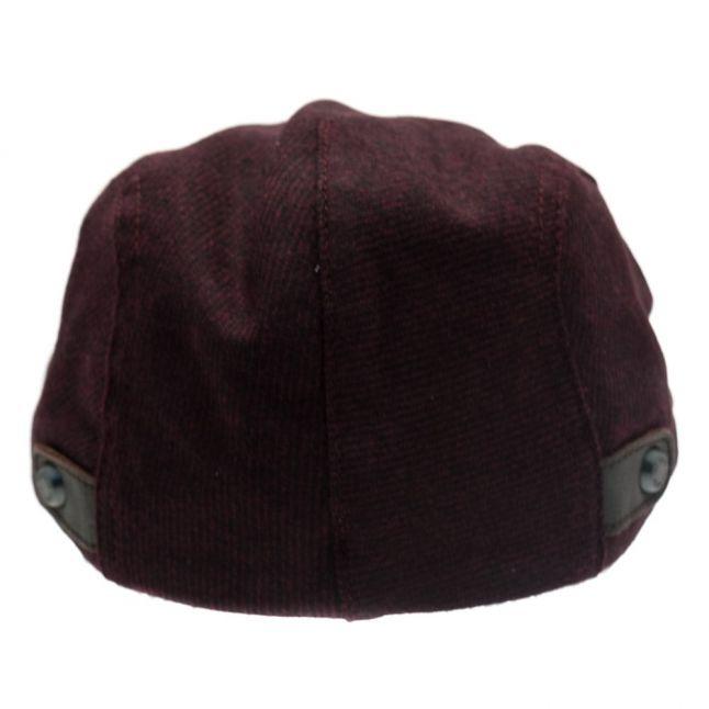 Mens Dark Red Chipper Flat Cap