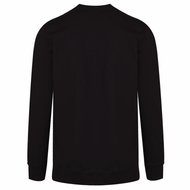Mens Black Cotton Logo Sweatshirt